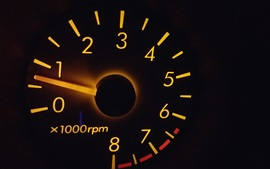 Preview wallpaper Speedometer, black background