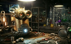 Preview wallpaper Steampunk Minion, laboratory, creative picture
