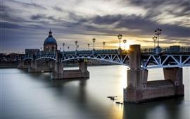 Aperçu fond d'écran Toulouse, France, pont, rivière