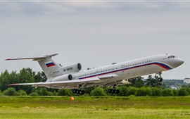 Preview wallpaper Tupolev, Tu-154 airplane
