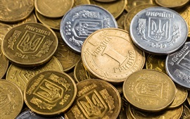 Preview wallpaper Ukraine coins, money