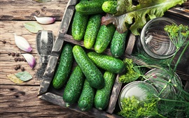 Preview wallpaper Vegetables, cucumbers