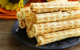Waffles tube, food