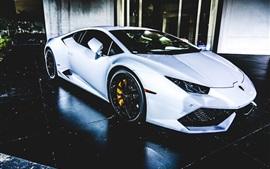 White Lamborghini sports car
