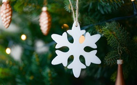 Preview wallpaper White snowflake, Christmas decoration