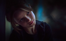 Preview wallpaper Young girl reverie, look