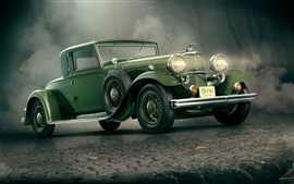 Preview wallpaper 1932 Lincoln KB green car