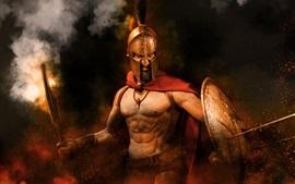 300 espartanos, guerra, guerrero