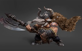 Preview wallpaper 3D art picture, Vikings, ax