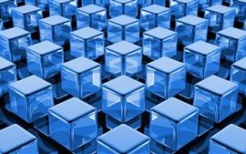 Cubos azules 3D