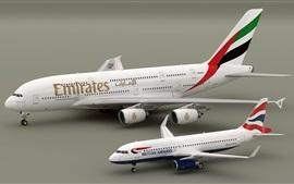 Aviones Airbus A380 y A320