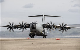Preview wallpaper Airbus A400M military transport aircraft