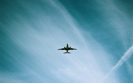 Preview wallpaper Airplane flight, blue sky