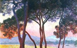 Pintura de arte, árvores