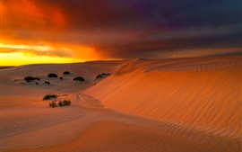 Preview wallpaper Australia, Eucla, desert, sand, clouds, sunset