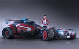 Preview wallpaper Axiom Feral Racer, girl, race car