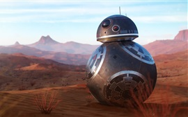 BB8 robot at desert