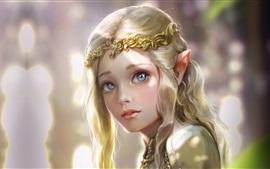 Vorschau des Hintergrundbilder Schönes Fantasiemädchen, Elf, Prinzessin