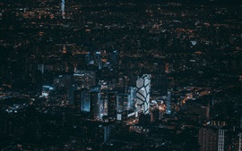 Preview wallpaper Beijing, China, city night, buildings, lights, top view