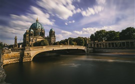 Preview wallpaper Berliner Dom, Germany, river, bridge