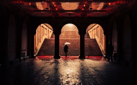 Preview wallpaper Bethesda Terrace Arcade, stairs, Central Park, New York, USA