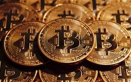 Aperçu fond d'écran Bitcoin, monnaie numérique