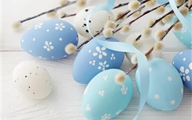 Preview wallpaper Blue eggs, Happy Easter