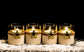 Candles, stars