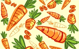 Preview wallpaper Carrots, vegetables, art drawing