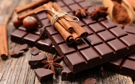 Preview wallpaper Chocolate and cinnamon