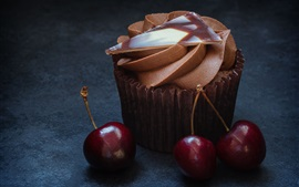 Preview wallpaper Chocolate cake and cherry