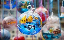 聖誕球,裝飾,繪畫