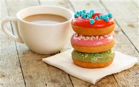 預覽桌布 咖啡和甜甜圈