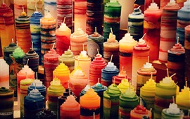 Preview wallpaper Colorful candles, still life