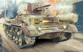 Preview wallpaper Cruiser Mk.II tank, British