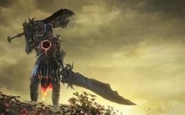 Dark Souls III, guerrero, nubes