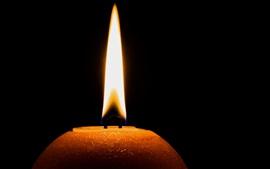Тьма, свеча, огонь, пламя
