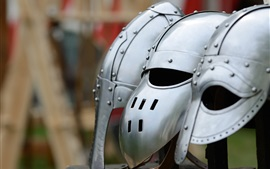 Preview wallpaper Different metal helmet