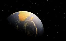 Earth, space, stars
