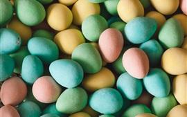 Пасхальные яйца, красочные, праздник