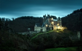 Preview wallpaper Eltz Castle, Germany, lights, night