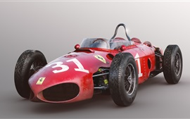 Preview wallpaper Ferrari 156 F1 red race car