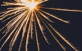 Preview wallpaper Fireworks, sparks, blackbackground
