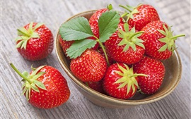 Preview wallpaper Fresh strawberry, bowl, delicious fruit