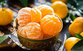 Fruit close-up, citrus, tangerines