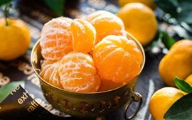 Aperçu fond d'écran Gros plan de fruits, agrumes, mandarines