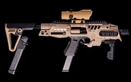 Preview wallpaper Glock 9mm SBR Pistol, gun, weapon, black background