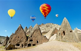 Preview wallpaper Hot air balloons, colorful, stones, Turkey