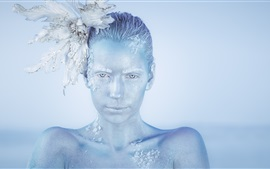 Ice girl, art photography