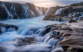 Preview wallpaper Iceland, waterfalls, beautiful landscape